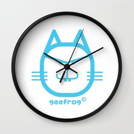 PLACID GEEFROG CAT #1 Wall Clock