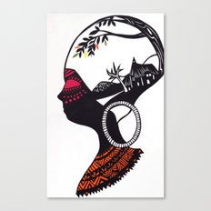 African Portrait Canvas Print