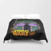 boba fett Duvet Covers featuring Boba Fett by Heretic