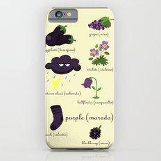 Colors: purple (Los colores: morado) Slim Case iPhone 6s