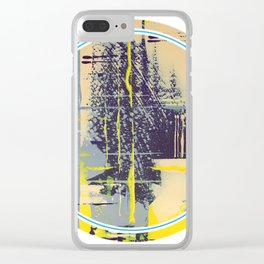 Sunday Morning - round graphic Clear iPhone Case