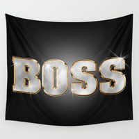 boss Wall Tapestries featuring Boss by MG-Studio