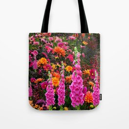 DECORATIVE SPRING FLOWERS GARDEN ART Tote Bag