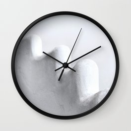 White and Minimal Wall Clock