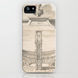 Vintage Roman Colosseum Illustrative Diagram iPhone Case