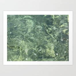 Marbled effect water Art Print