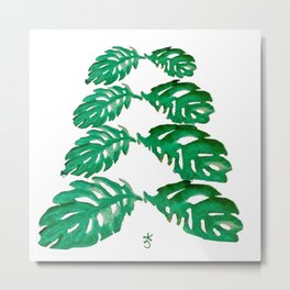 Holiday Tree Leaves perfect for a card Metal Print