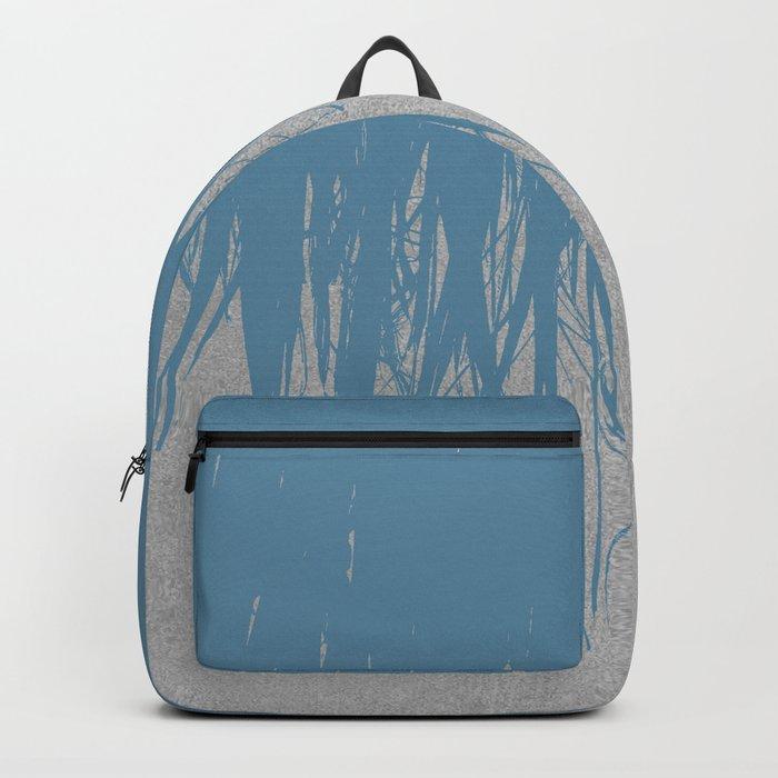 Concrete Fringe Blue Backpack
