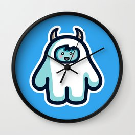 Kawaii Cute Abominable Snowman Yeti Wall Clock