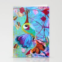 hemingway Stationery Cards featuring Hemingway - Quirky Bird Series by Hyla Zest