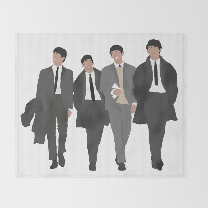 Beatle S 40 Throw Blanket By Silviavacca Society40 Interesting Beatles Throw Blanket
