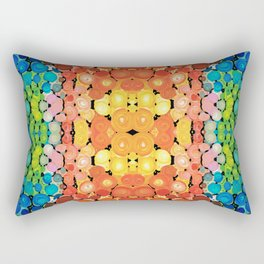Healing Colors - Colorful Abstract Art By Sharon Cummings Rectangular Pillow