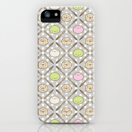 Mochi Kochi | Pattern in Grey iPhone Case