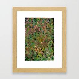 Entanglement of Grass & Leaves Framed Art Print