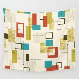 Mid Century Modern, Sputnik Pattern Wall Tapestry