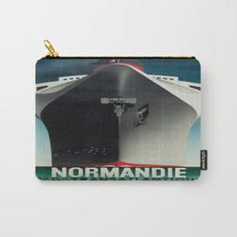 Vintage poster - Normandie Carry-All Pouch