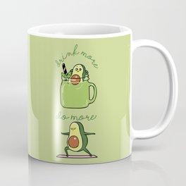 Drink More Smoothie Do More Yoga Avocado Coffee Mug