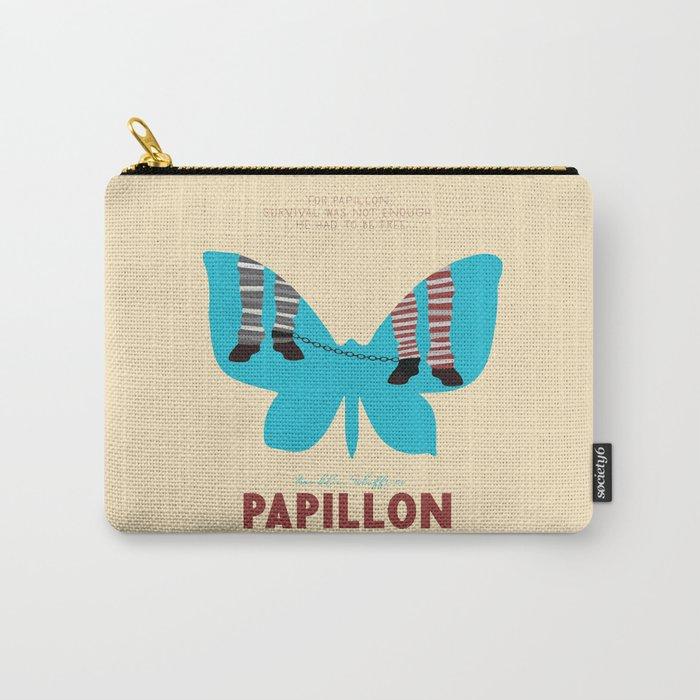 Papillon, Steve McQueen vintage movie poster, retrò playbill, Dustin Hoffman, hollywood film Carry-All Pouch