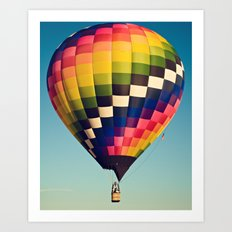 checkered Art Print