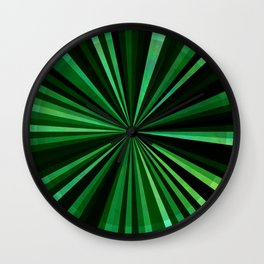 North Texas Green Sun Wall Clock