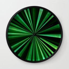 North Texas Green Sun Wall Clock