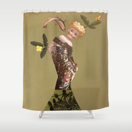 Old doll Shower Curtain