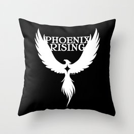 PHOENIX RISING white with star center Throw Pillow
