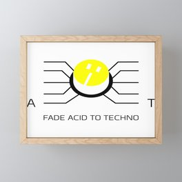 Fader from acid to techno or from techno to acid Framed Mini Art Print