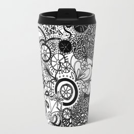 Growth in 3 Directions - Black and White Travel Mug