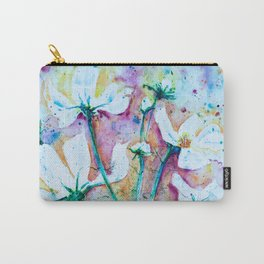 Cool Blue Vibrant Cosmos watercolor by CheyAnne Sexton Carry-All Pouch