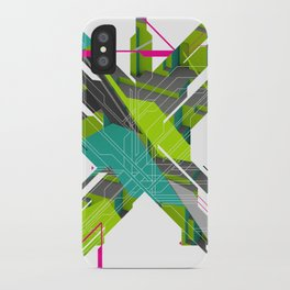 Abstract Green iPhone Case
