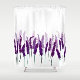 Lavender Field | Purple Flowers in Watercolor Shower Curtain