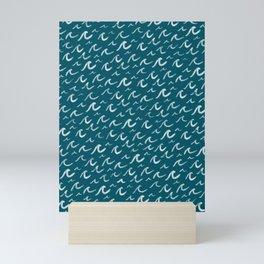 Ocean Waves . Stormy Seas Mini Art Print