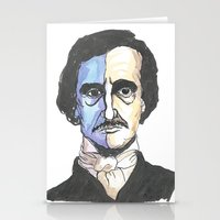 poe Stationery Cards featuring Poe by Mark B Hill Art