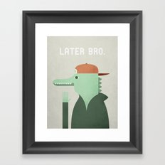 Later Gator Framed Art Print