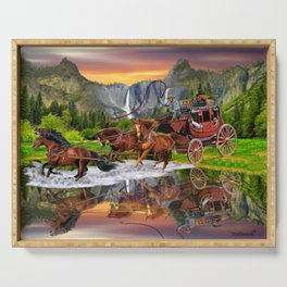 Wells Fargo Stagecoach Serving Tray