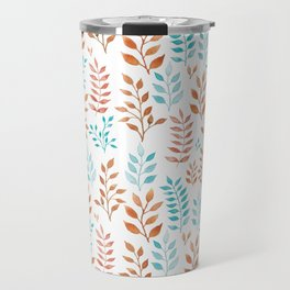Watercolor twigs in turqoise and hazel colors Travel Mug