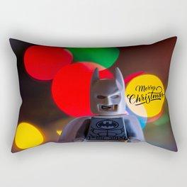 Bat Man Merry Christmas Rectangular Pillow