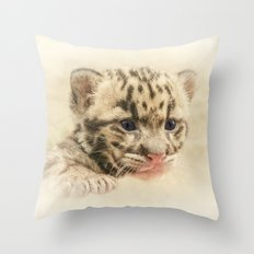 CUTE CLOUDED LEOPARD CUB Throw Pillow