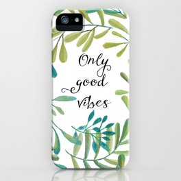 green leaves nature iPhone Case