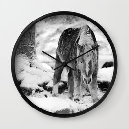 I have to go down now bw Wall Clock