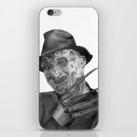 freddy krueger iPhone & iPod Skins featuring Freddy Krueger by axemangraphics