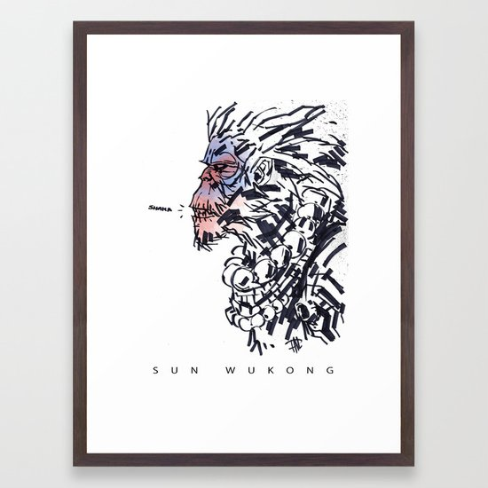 f816a3fa9c26 Sun Wukong the Monkey King Framed Art Print by paullucido