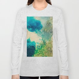 Retro Abstract Photography Underwater Bubble Design Long Sleeve T-shirt