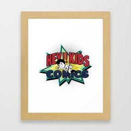 HEY!! KIDS COMICS Framed Art Print