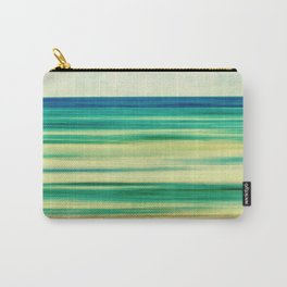 stripes of blue and green Carry-All Pouch