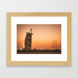 dubai landscape Framed Art Print