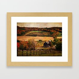 Farm Country Autumn Framed Art Print