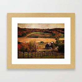 Farm Country Autumn Framed Art Print