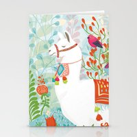 llama Stationery Cards featuring Llama by The Wildest Little Things